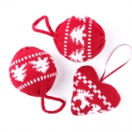 nordic knitted baubles