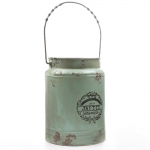 sage green milk pail